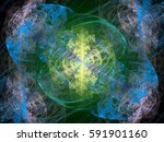 abstract background. fractal... | Shutterstock . vector #591901160