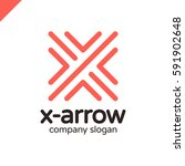 letter x logo design concept... | Shutterstock .eps vector #591902648
