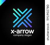 letter x logo design concept... | Shutterstock .eps vector #591902780