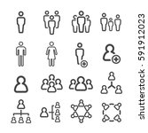 people line icon | Shutterstock .eps vector #591912023