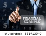 business man pointing his hand... | Shutterstock . vector #591913040