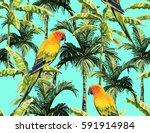 beautiful seamless vector... | Shutterstock .eps vector #591914984