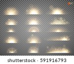 set. shining star  the sun... | Shutterstock .eps vector #591916793