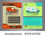 set of express delivery service ... | Shutterstock .eps vector #591919550