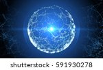 abstract sphere from connected... | Shutterstock . vector #591930278