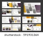 complete pages  professional... | Shutterstock .eps vector #591931364