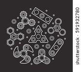 hand spinners illustration.... | Shutterstock .eps vector #591932780