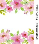painted watercolor composition... | Shutterstock . vector #591937868