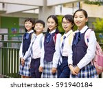 portrait of a group of asian... | Shutterstock . vector #591940184