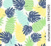 seamless pattern with... | Shutterstock .eps vector #591941390