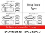 truck pickup types template... | Shutterstock .eps vector #591958910