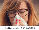 seasonal allergies and health... | Shutterstock . vector #591961889