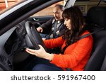 family driving lessons | Shutterstock . vector #591967400