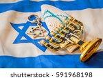 jewish religious symbols ... | Shutterstock . vector #591968198