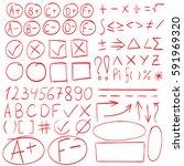 grade results  symbols markers  ... | Shutterstock .eps vector #591969320