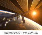 international space station in... | Shutterstock . vector #591969866