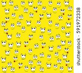 pattern of funny smiles on a... | Shutterstock .eps vector #591972338