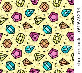modern seamless pattern with... | Shutterstock .eps vector #591976214