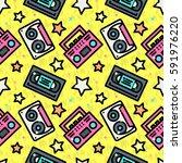 modern seamless pattern with... | Shutterstock .eps vector #591976220