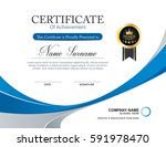 vector certificate template | Shutterstock .eps vector #591978470