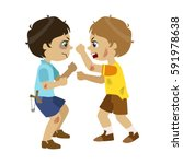 two bad boys fighting  part of... | Shutterstock .eps vector #591978638