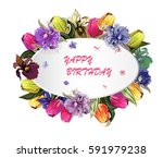 round greeting wight frame with ...   Shutterstock .eps vector #591979238