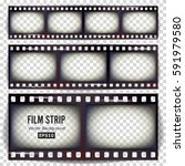 film strip vector. set... | Shutterstock .eps vector #591979580
