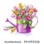 watercolors clip art | Shutterstock . vector #591995528
