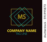 ms letter logo design sign... | Shutterstock .eps vector #591995873