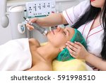 phonophoresis procedure for a... | Shutterstock . vector #591998510