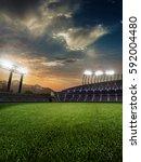stadium sunset  with people... | Shutterstock . vector #592004480
