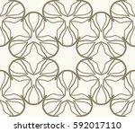seamless geometric line pattern.... | Shutterstock .eps vector #592017110
