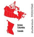 map of british columbia canada | Shutterstock .eps vector #592019360