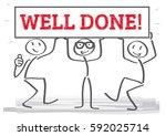 sick figures holding red... | Shutterstock .eps vector #592025714