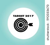 2017 target icon. successful... | Shutterstock .eps vector #592033670