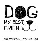cute dog t shirt design with...