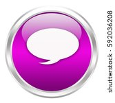 speech bubble button isolated ... | Shutterstock . vector #592036208