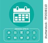 organizer icon illustration... | Shutterstock .eps vector #592038110