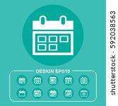 organizer icon illustration... | Shutterstock .eps vector #592038563