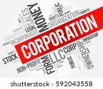 corporation word cloud collage  ... | Shutterstock .eps vector #592043558