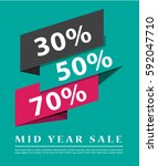 sale banner design vector | Shutterstock .eps vector #592047710
