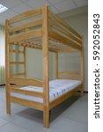 wooden bunk bed | Shutterstock . vector #592052843