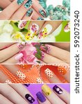 collection of trendy colorful... | Shutterstock . vector #592073240