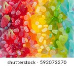 Colorful Soft Candy In Rainbow...