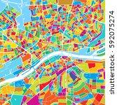frankfurt  germany  colorful... | Shutterstock .eps vector #592075274