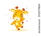 vector stock illustration... | Shutterstock .eps vector #592079804