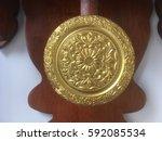 swing of an antique clock   Shutterstock . vector #592085534