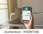 bung kan  thailand   january 08 ...   Shutterstock . vector #592087238