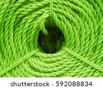 closeup the colorful nylon roll ... | Shutterstock . vector #592088834