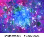 Abstract Low Polygon Shaped...
